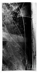 Broken Glass Window Beach Towel