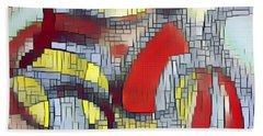 Beach Towel featuring the digital art Broken Soul by Lucia Sirna