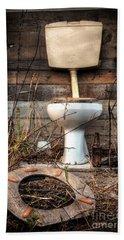 Broken Toilet Beach Sheet