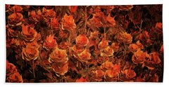 Bronze Roses Beach Towel