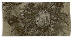 Bronzed Out Sunflower Beach Sheet
