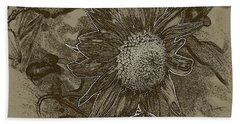Bronzed Out Sunflower Beach Towel