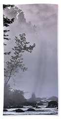 Beach Towel featuring the photograph Brooding River by Tom Cameron
