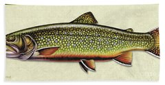 Brook Trout Id Beach Towel