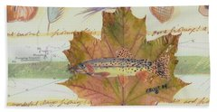 Brook Trout On Fly #2 Beach Towel