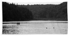 Beach Towel featuring the photograph Brookfield, Vt - Swimming Hole 2006 Bw by Frank Romeo