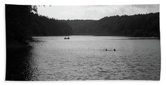 Beach Towel featuring the photograph Brookfield, Vt - Swimming Hole Bw 2 by Frank Romeo