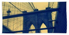 New York City's Famous Brooklyn Bridge Beach Towel