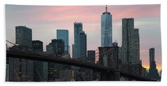 Brooklyn Bridge New York Beach Towel