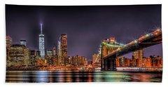 Brooklyn Bridge Park Nights Beach Sheet