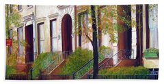 Brooklyn Brownstone Corridor 2 Beach Towel
