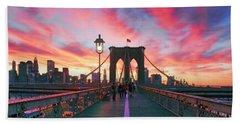 New York Landscape Photographs Beach Towels