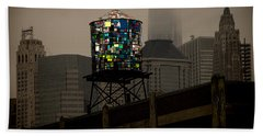 Beach Towel featuring the photograph Brooklyn Water Tower by Chris Lord