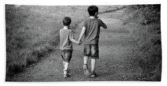 Brotherly Love Beach Towel by Lynn Bolt