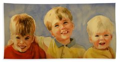 Brothers Beach Towel by Marilyn Jacobson