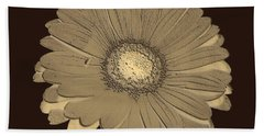 Brown Art Beach Towel