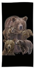Brown Bears 8 Beach Sheet