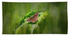 Brown Butterfly #h6 Beach Towel