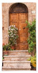Brown Door Of Tuscany Beach Sheet