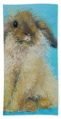 Brown Easter Bunny Beach Towel
