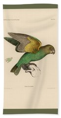 Brown-headed Parrot, Piocephalus Cryptoxanthus Beach Towel