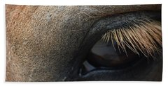 Brown Horse Eye Beach Towel