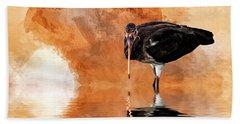 Brown Ibis Beach Sheet by Cyndy Doty