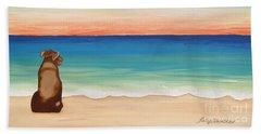 Brown Lab Sunrise Beach Sheet