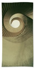 Beach Towel featuring the photograph Brown Spiral Stairs by Jaroslaw Blaminsky