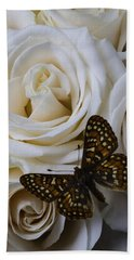 Brown Spotted Butterfly Beach Towel
