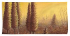 Brown Trees 01 Beach Towel