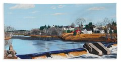 Brownville Village Dam Beach Towel