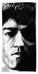Bruce Lee Portrait Beach Sheet