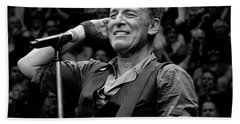 Bruce Springsteen - Pittsburgh Beach Towel by Jeff Ross