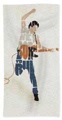 Bruce Springsteen Typography Art Beach Towel