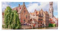 Bruges Canal Belgium Dwp-2611575 Beach Towel
