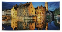 Brugge Beach Towel by JR Photography