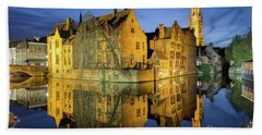 Brugge Twilight Beach Sheet by JR Photography