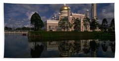 Brunei Mosque Beach Sheet by Travel Pics