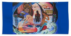 Frigg And Isis Enjoy The Nile Spa Beach Towel by Sigrid Tune