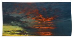 Beach Towel featuring the photograph Brunswick Sky Line by Laura Ragland