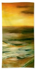 Brushed 4 - Vertical Sunset Beach Towel