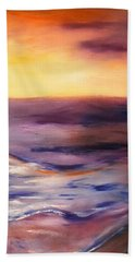 Brushed 6 - Vertical Sunset Beach Towel