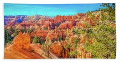 Beach Towel featuring the photograph Bryce Canyon Artistry by John M Bailey