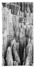 Bryce Canyon Black And White Forest Of Columns Beach Towel