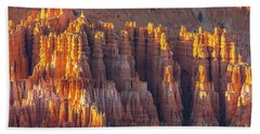 Bryce Canyon Golden Formations Beach Towel