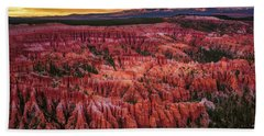 Bryce Canyon In The Glow Of Sunset Beach Sheet