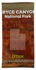 Bryce Canyon National Park In Utah Travel Poster Series Of National Parks Number 06 Beach Towel