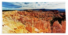 Beach Towel featuring the photograph Bryce Canyon Overlook by Norman Hall