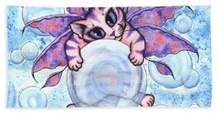 Bubble Fairy Kitten Beach Towel